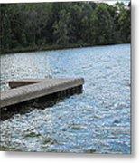 Left Boat Dock Metal Print