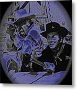 Leif Erickson And Cameron Mitchell  The High Chaparral Old Tucson Arizona 1969 Metal Print