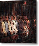 Light Shadow Texture Metal Print by Natasha Marco