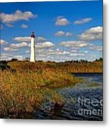 Lighthouse At The Water Metal Print