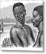 Lip-rings Of Two African  Native Women Metal Print