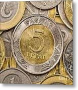 Lithuanian Currency Metal Print