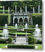 Longwood Gardens Fountains Metal Print