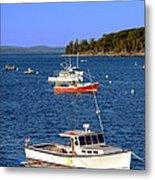 Maine Lobster Boat Metal Print