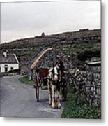 Making A Living On Inishmore - Aran Islands - Ireland Metal Print
