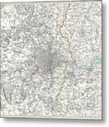 Map Of London And Environs Metal Print