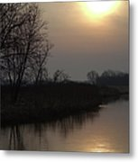 Marsh Sunrise Metal Print