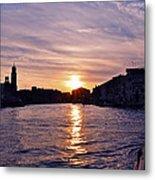 Mia Pervinca Murano Sunset  Metal Print