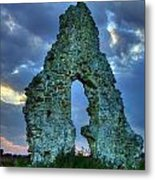 Midley Church Ruins At Dusk Metal Print