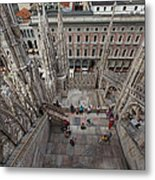 Milan From The Roof Metal Print