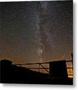 Milky Way Behind The Gate Metal Print