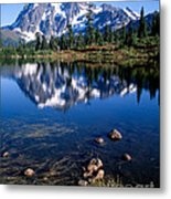 Mt. Shuksan Reflected In Picture Lake Metal Print