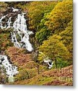 Nant Gwynant Waterfalls V Metal Print by Maciej Markiewicz
