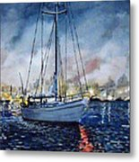 Newport Beach Harbor 4th Of July Metal Print by John Leclerc