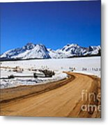 Open Road Tothe Sawtooth Mountains Metal Print