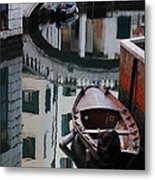Oval Reflection Metal Print