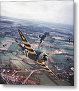 P47- D-day Train Busters Metal Print