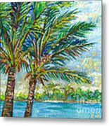 Palm Breezes Metal Print