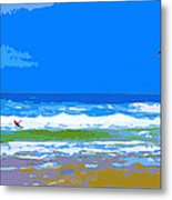 Para-surfer 2p Metal Print by CHAZ Daugherty