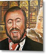 Pavarotti And The Ghost Of Lincoln Center Metal Print