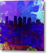 Phoenix Watercolor Skyline 1 Metal Print
