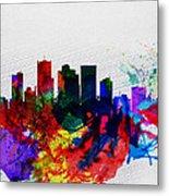 Phoenix Watercolor Skyline 2 Metal Print