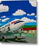 Portsmouth Ohio Airport And Lake Central Airlines Metal Print