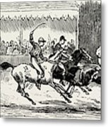 Prince Winning The Half-mile Pony Race For The Prince Metal Print