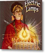 Rashleigh Electric Lamps         Date Metal Print