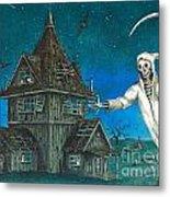 Reaper At Midnight Metal Print