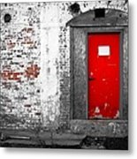 Red Door Perception Metal Print
