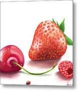 Red Fruits Metal Print