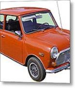 Red Mini Cooper Metal Print