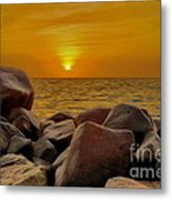 Red Sea Sunset Metal Print