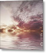 Reflection Of Mauve Skies Metal Print