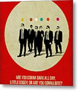 Reservoir Dogs Poster Metal Print by Naxart Studio