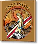 Rincon Ventura California Surfing Metal Print by Larry Butterworth