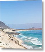 Road And Beaches Of Sao Vicente Cape Verde Metal Print