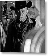 Robert Mitchum Lights Young Billy Young Set  Old Tucson Metal Print