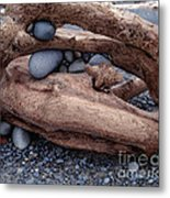 Rocks  In Driftwood Metal Print