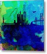 San Francisco Watercolor Skyline 2 Metal Print