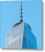 Scenery Near World Trade Center In New York C Metal Print