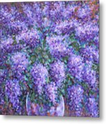 Scented Lilacs Bouquet Metal Print
