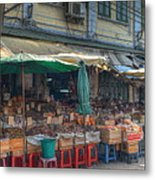 Seafood Shop Metal Print