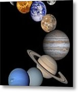 Solar System Montage Metal Print by Anonymous