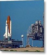 Space Shuttle Roll-around Metal Print