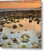 Spain Africa And Gibraltar In One Shot Metal Print