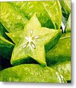 Star Fruit Carambola Metal Print