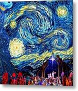 Starry Night In Bethlehem Metal Print