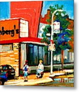 Steinbergs Grocery Store Paintings Vintage Montreal Art Order Prints Originals Commissions Cspandau Metal Print